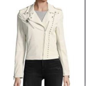 Vigoss Perforated Faux Leather Studded Moto